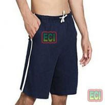 Gents Navy Blue Shorts Jogging Nicker, Men Hosiery Cotton Bermuda Half Pant