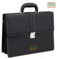Elegant Executive Bag, Office Briefcase Black Cimmaron Leather Hand Attachi