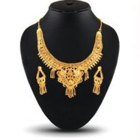 Ladies Designer Necklace Set, 1 Gram Gold Plating