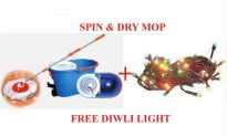 New Magic Spin Wet Dry Mop + Twinkling Light.