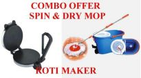 Electric Roti Maker + New Magic Spin Wet Dry Mop.