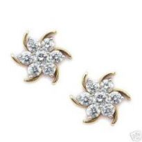 Avsar Real Gold Diamond Nakshatra Earring AVE018