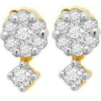 Avsar Real Gold And Diamond Pressure Set Earring