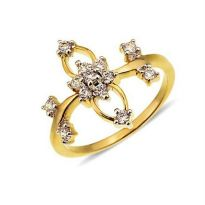 Avsar Real Gold And Diamond Lovely RING AVR170