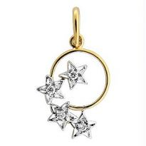 Bling! Real Gold And Diamnd Star In The World Pendant
