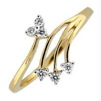 Bling! Real Gold And Diamond Traditional Ring