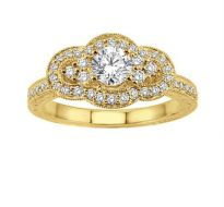 0.50 CT ENGAGEMENT 14K GOLD DIAMOND RINGS INTR0031