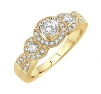 0.60 CT ENGAGEMENT 14K GOLD DIAMOND RINGS INTR0034