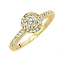 0.37 CT ENGAGEMENT 14K GOLD DIAMOND RINGS INTR0074
