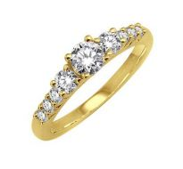 0.52 CT ENGAGEMENT 14K GOLD DIAMOND RINGS INTR0081