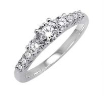 0.52 CT ENGAGEMENT 14K GOLD DIAMOND RINGS INTR0082