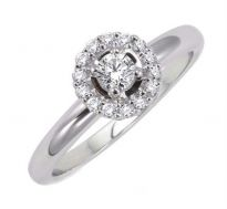 0.29 CT ENGAGEMENT 14K GOLD DIAMOND RINGS INTR0086
