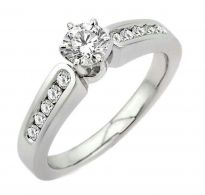 0.40 CT ENGAGEMENT 14K GOLD DIAMOND RINGS INTR0087