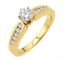 0.40 CT ENGAGEMENT 14K GOLD DIAMOND RINGS INTR0088