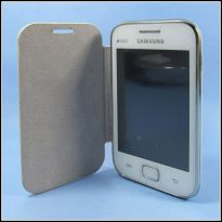 Samsung Galaxy Ace Duos S6802 Flip Cover Book Case (White)