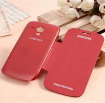 Samsung Galaxy S Duos S7562 Flip Cover Book Case (Red)