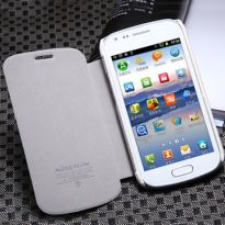 Samsung Galaxy S Duos S7562 Flip Cover Book Case (White)