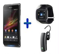 Sony Xperia L Android Smartphone + Acc Bundle