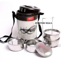 4 Container Milton Insulated Hot Lunch Tiffin Box