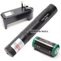 100MW Rechargeable Green Laser Pointer Pen Light 1