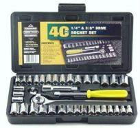 Crest Heavy Duty 40 PC Socket Wrench Set Multifunction Tool Kit