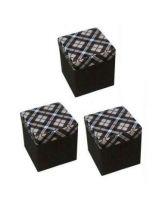 Set Of 3 Folding Multifunction Storage Stool Box
