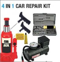 Hydraulic car Jack + Compressor + Puncture Kit +TK