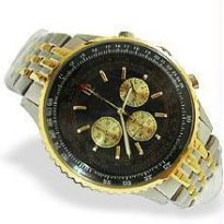 2 Tone Gold Plating Chrono Watch - Opulence Series