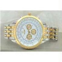 Dashing Gold Silver Chrono Watch - Opulence Series