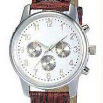 Brown Leather Chrono Watch