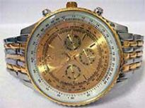 Gold Ceramic Chrono Watch - Opulence Series