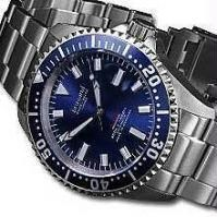 Blue Dial Men Chrono Watch