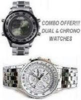 Combo Offer Dual Digital And Analog Watch & Opulence Chrono Watch