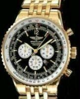 Black Dial Golden Opulence Chrono Watch