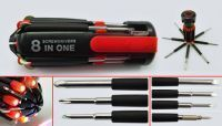 8 In 1 Multi Screwdriver Torch Screw Driver Tool Kit