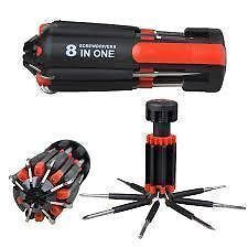 8 In 1 Multi-function Screwdriver Tool Kit Set-6 LED Light Torch