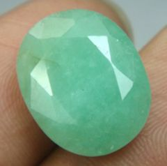 Certified 11.29Cts Natural Untreated Emerald/Panna