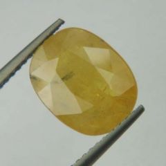 Lab Certified  Top Grade 3.87Cts Natural Yellow Sapphire/Pukhraj