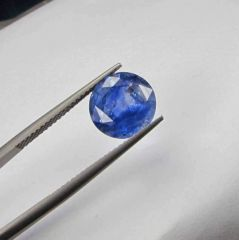 CERTIFIED 4.47Cts{4.96 Ratti}UNHEATED NATURAL CEYLON BLUE SAPPHIRE/NEELAM