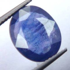 Lab Certified 4.59Cts{5.10 Ratti}Transparent Natural Blue Sapphire/Neelam