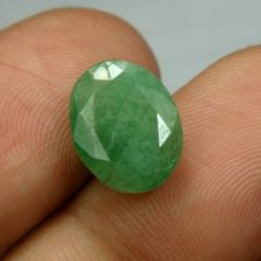 Lab Certified 5.17Cts Natural Untreated Emerald/Panna