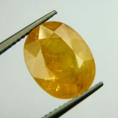 Lab Certified  Top Grade 7.15Cts Natural Yellow Sapphire/Pukhraj