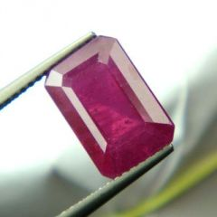 TOP GRADE 5.92Cts LAB CERTIFIED NATURAL RUBY/MANEK