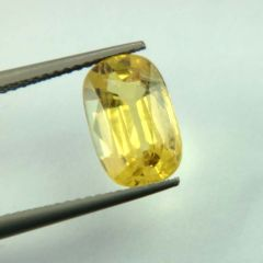 Lab Certified  Top Grade 3.49Cts Natural Yellow Sapphire/Pukhraj