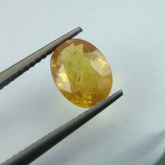 Lab Certified  Top Grade 2.20Cts Natural Yellow Sapphire/Pukhraj