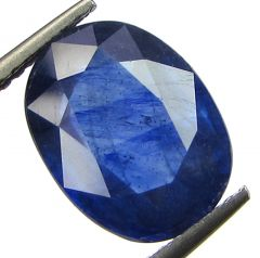 Lab Certified 4.55cts Transparent Natural Blue Sapphire/neelam(for Shani)