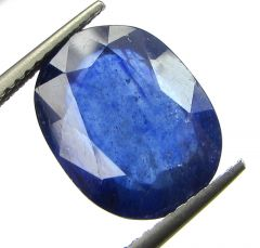 Lab Certified 7.52cts Transparent Natural Blue Sapphire/neelam(for Shani)
