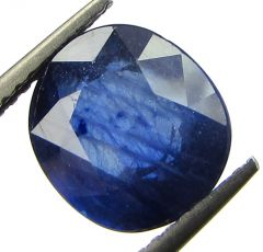 Lab Certified 4.39cts Transparent Natural Blue Sapphire/neelam(for Shani)