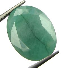 Lab Certified 9.61Cts Natural Untreated Emerald/Panna
