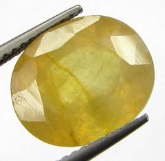 Lab Certified 8.52cts Natural Yellow Sapphire/pukhraj